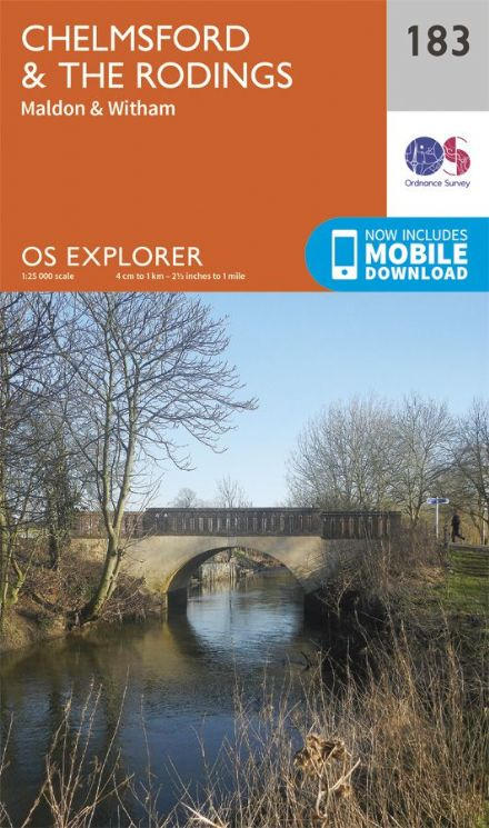 OS Explorer 183 - Chelmsford & The Rodings, Maldon & Witham